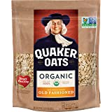Quaker Organic Old Fashioned Oats Breakfast Cereal, Non-GMO Project Verified, 24 Ounce Resealable Bags, 4 Bags