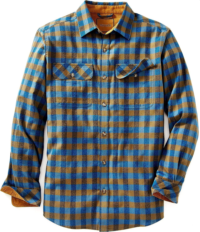 Venado Flannel Shirt for Men - Mens Flannel Plaid Shirt with Full Reach Gusset…