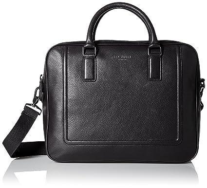 1ca7c4ac126 Ted Baker - Laptop Bags - Men - Black Leather Briefcase: Amazon.co.uk:  Electronics