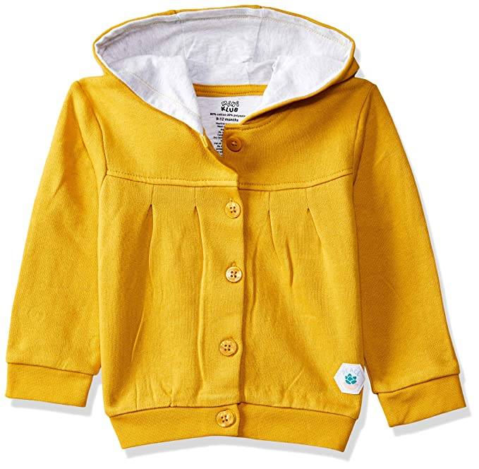 eb7a71b88edc Mini Klub Baby Girl s Mustard Sweatshirt  Amazon.in  Clothing ...