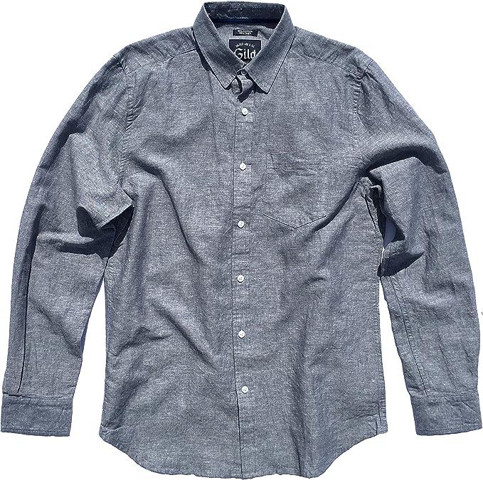 Wrangler Boys Casual Shirt Button Down 100/% Cotton Black Chambray Medium