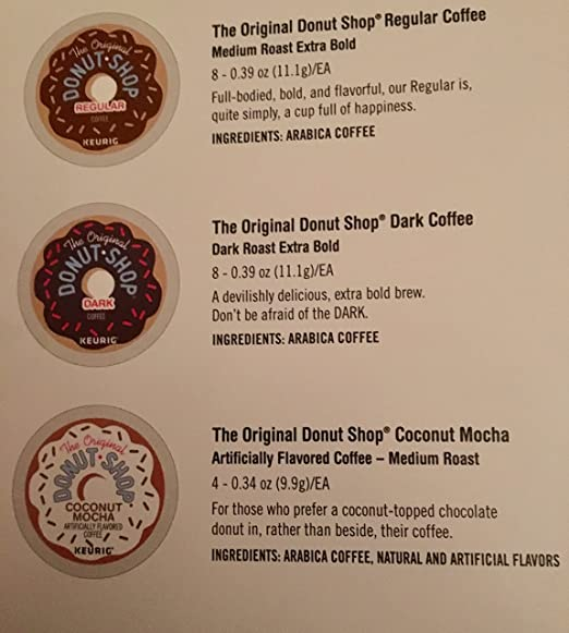Original Donut Shop Keurig KCup Pods Holiday Edition with 20