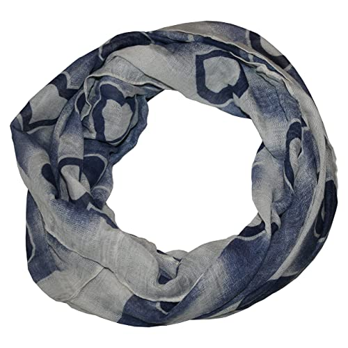 ManuMar Loop-Panno sciarpa per Donna | collo con motivo con cuori come accessorio perfetto estate | ...