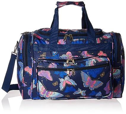 16613aca625c World Traveler Women s Duffel Bag Pink Butterfly One Size