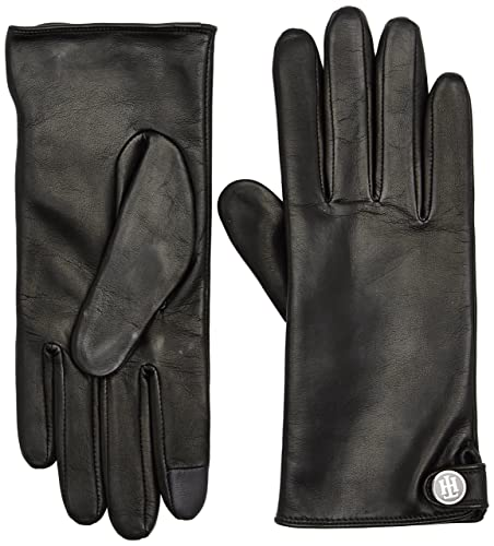 Tommy Hilfiger Coin Leather Gloves, Guanti Donna