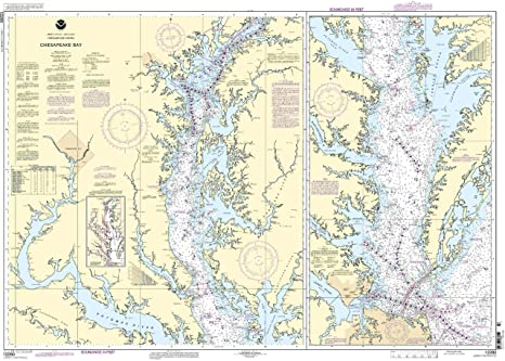Amazon com 12280 chesapeake bay fishing charts and maps