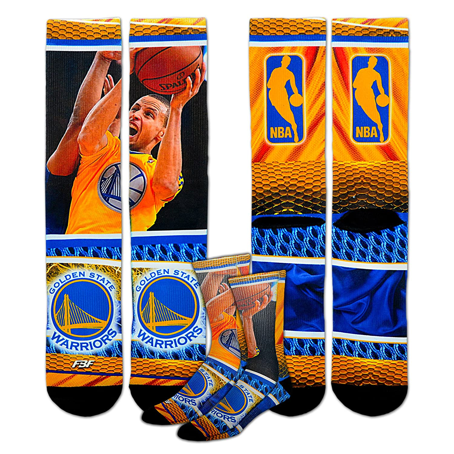 Stephen Curry #30 Golden State Warriors Youth Size NBA Hardplay Kids Socks 1 Pair 4-8 YRS