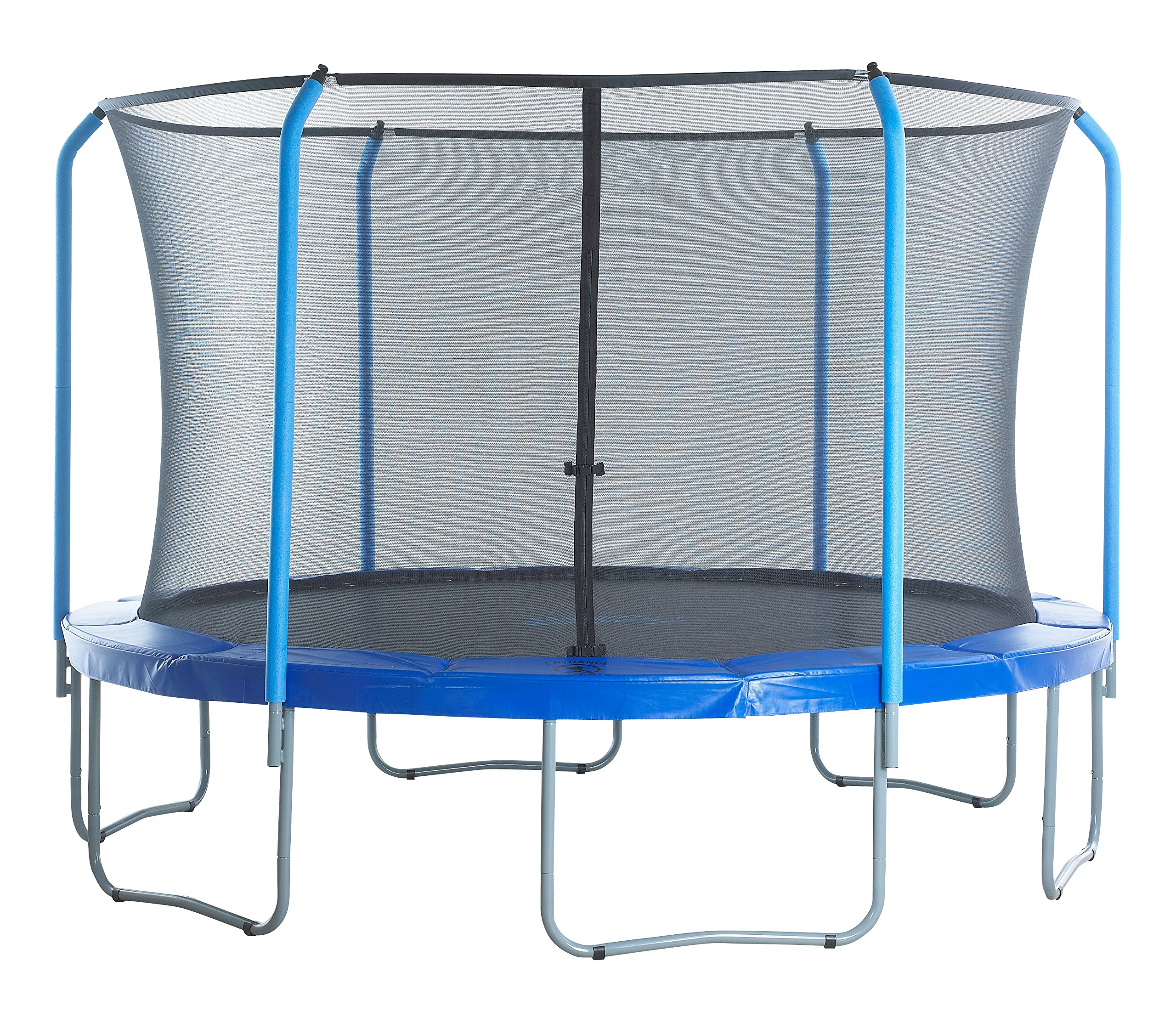 SKYTRIC Trampoline Enclosure Net (Universal) 15 ft Frame: 6 Curved Pole: with Top Ring Enclosure Systems -Sleeve on top Type- by SKYTRIC (Image #7)