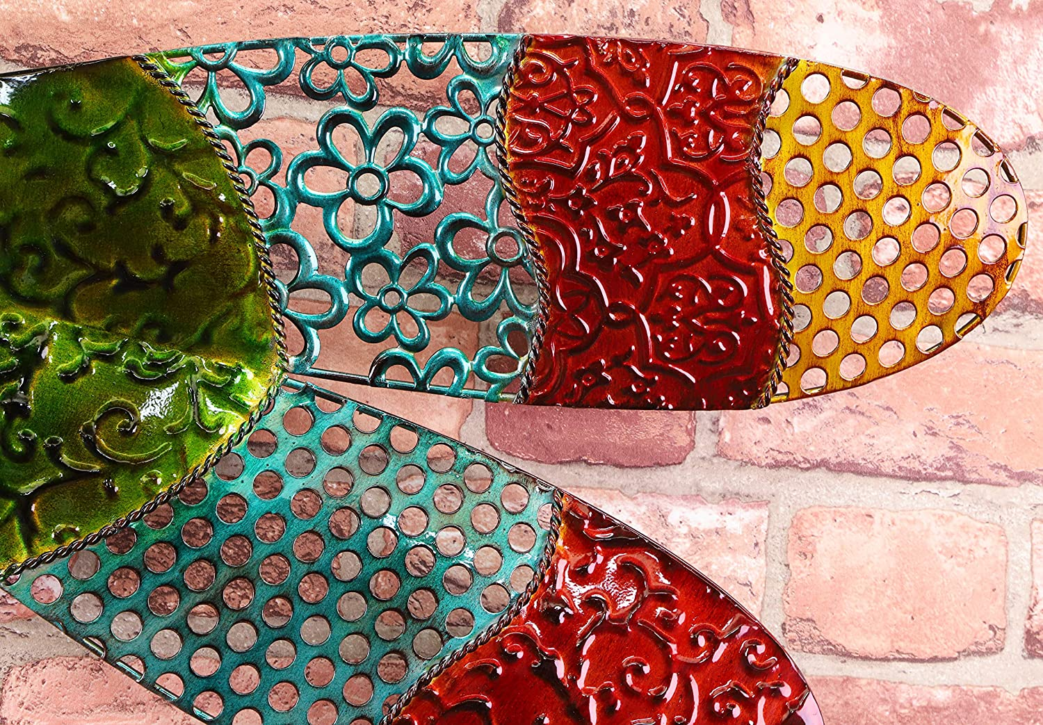 87 x 59 cm Colourful Dragonfly Wall Sculpture Outdoor Wall Art
