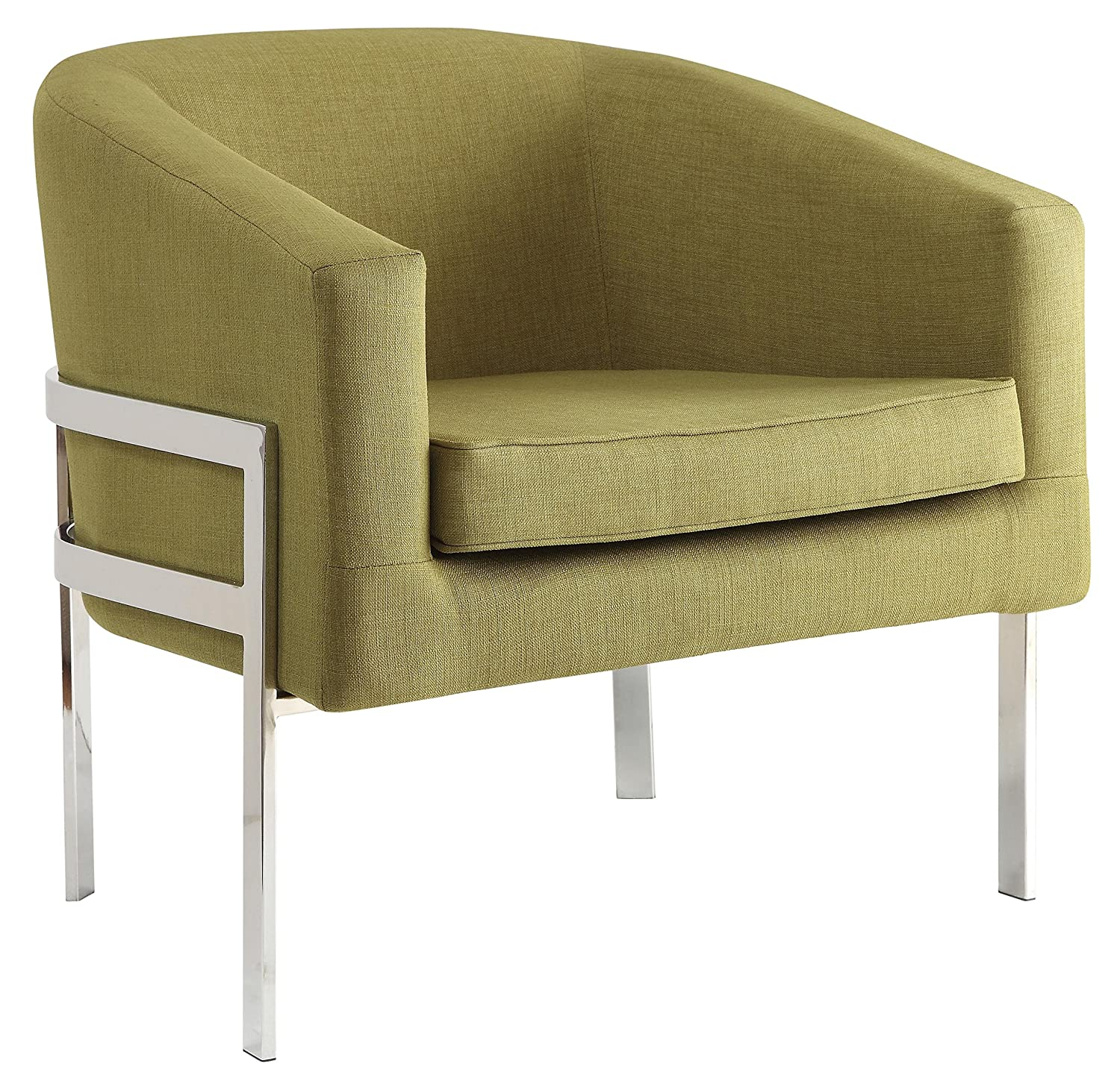 Amazon.com: Coaster Contemporary Accent Chair With Metal Frame In Green:  Kitchen U0026 Dining