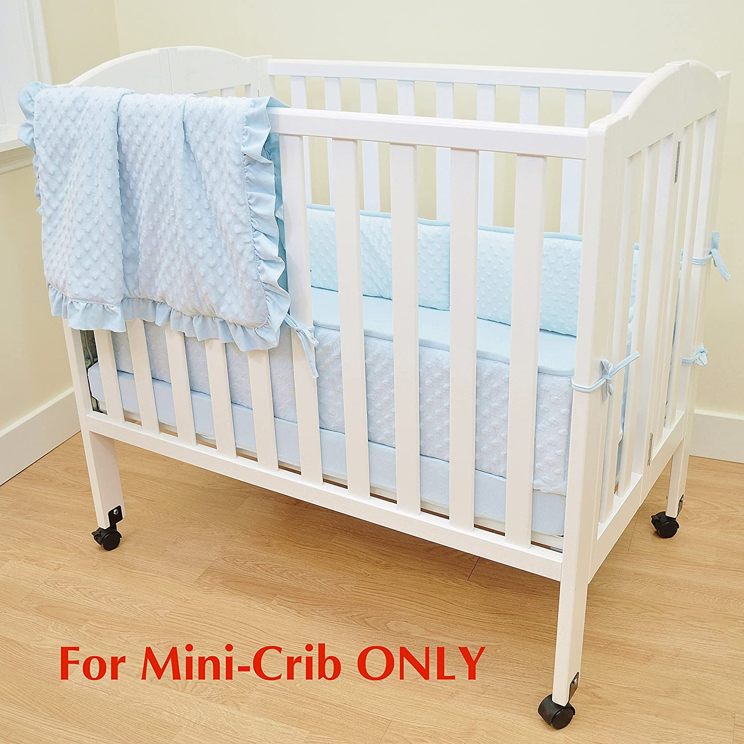 for Girls American Baby Company Heavenly Soft Minky Dot Portable and Mini-Crib Bumper Pink Puff Not for Crib