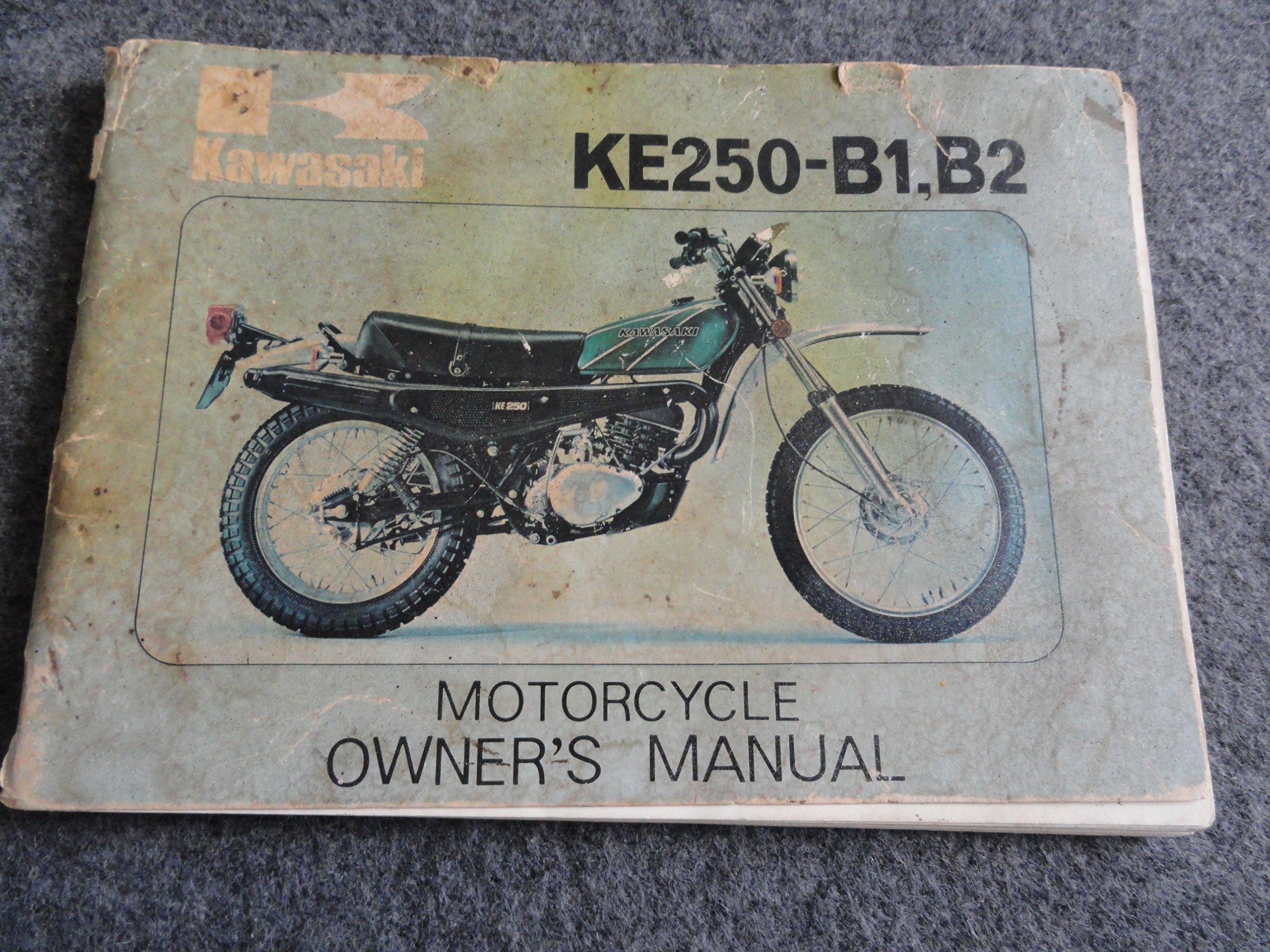 1976 1977 1978 Kawasaki KE250 Owners Manual KE 250 B1 B2: Kawasaki:  Amazon.com: Books