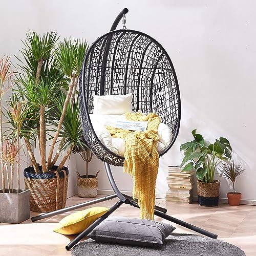 Cherry Tree Furniture Azura Black Hanging Egg Chair