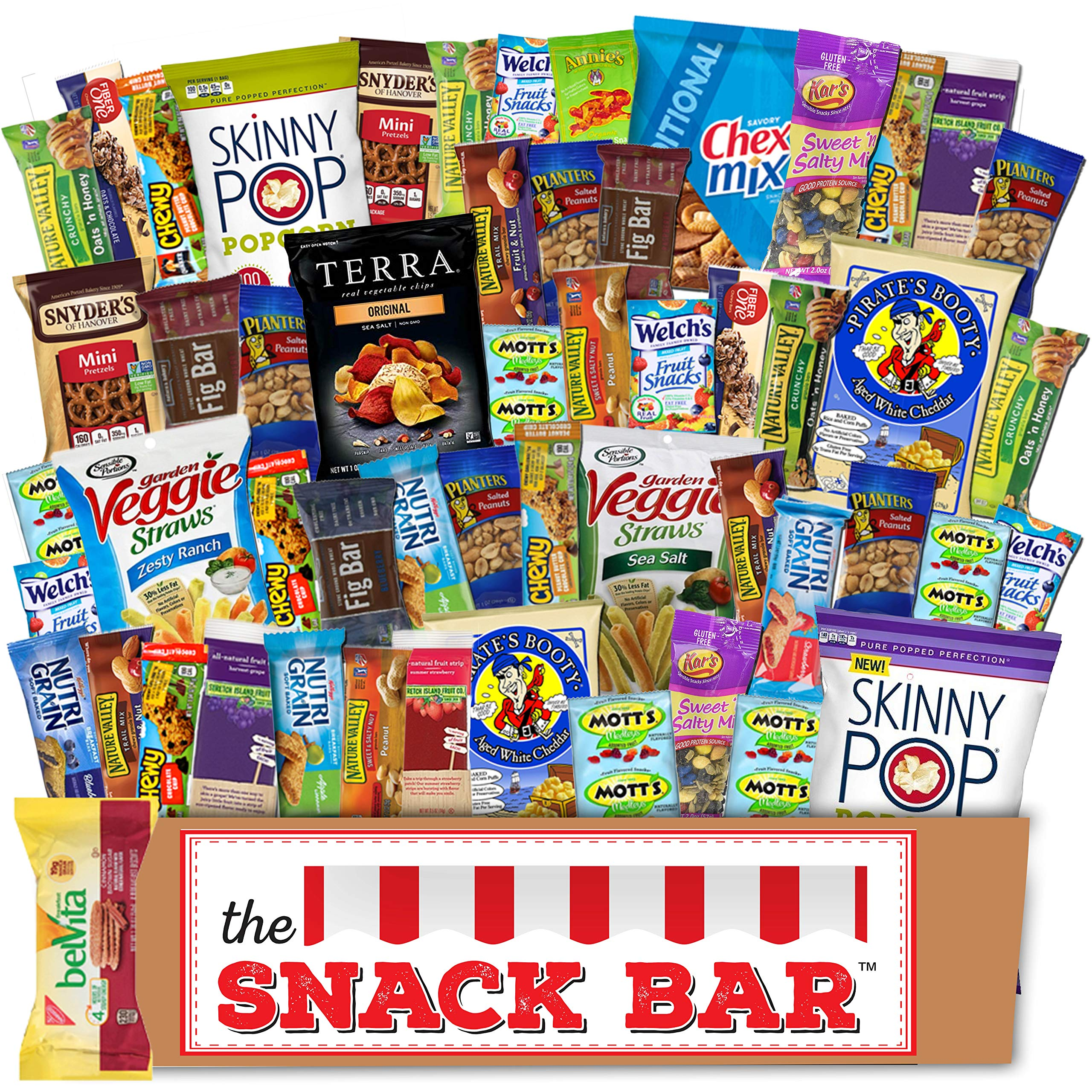 Healthy snack Care Package (52 count) A Gift crave Snack Box with a Variety of Healthy Snack Choices - Great for Office, College Military, Work, Students etc.