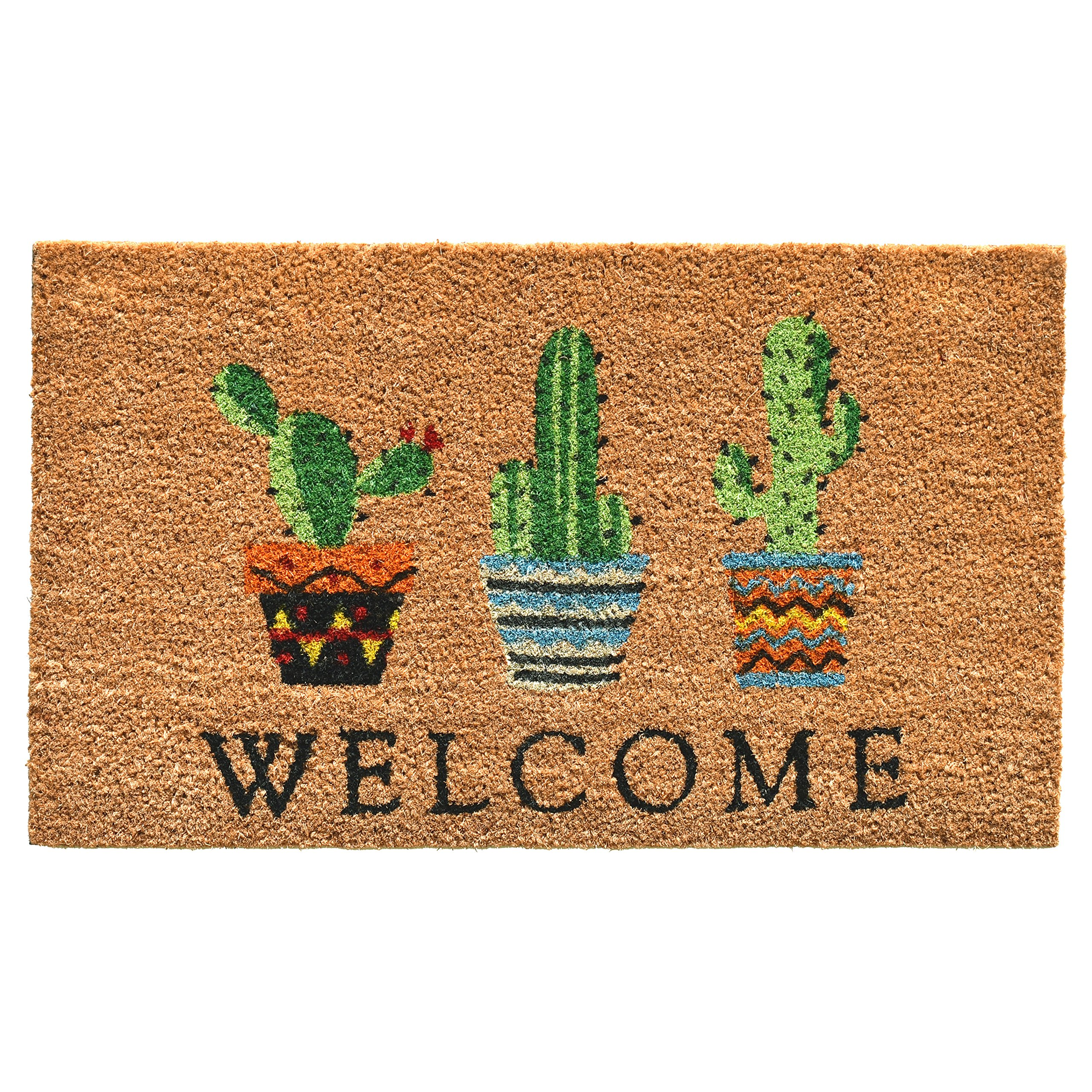 Home & More 104051729 Cactus Welcome Doormat, 17'' x 29'', Multicolor