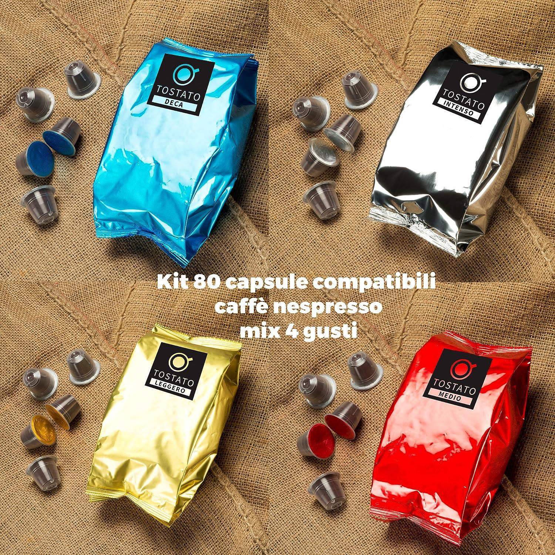 80 Cápsulas de Café Compatibles con Máquinas Nespresso mix 4 ...