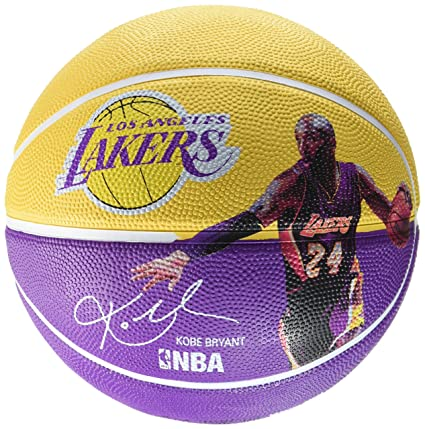 Spalding NBA Player Kobe Bryant Ball 83 – 399z, Amarillo/Lila, 5,