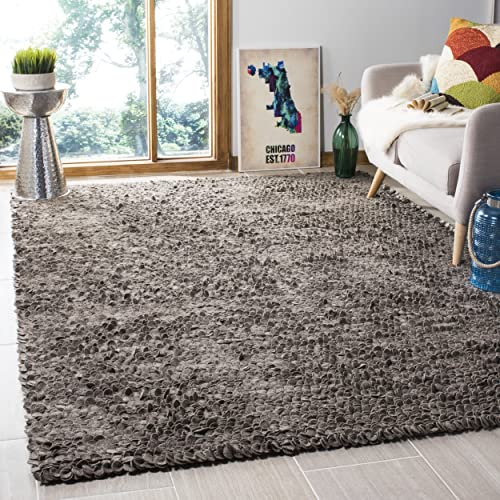 Martha Stewart Safavieh Collection MSR3124C Damask Premium Wool and Viscose Mahogany Area Rug 8 6 x 11 6