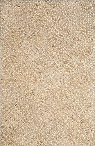 Safavieh Natural Fiber Collection NF924A Hand Woven Natural Jute Area Rug 8' x 10'