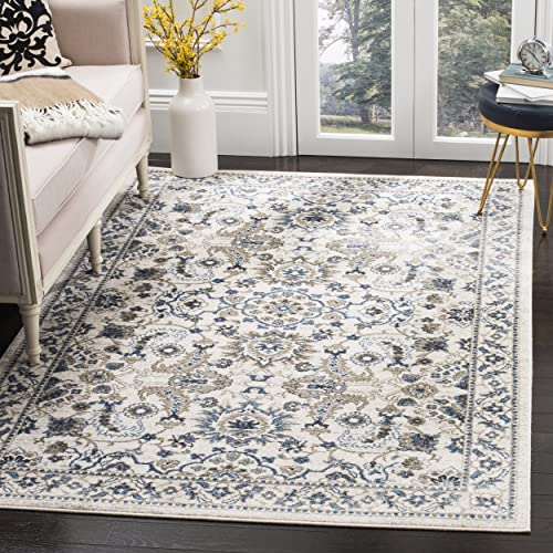 Safavieh Carolina Collection CRL477C Traditional Cream and Dark Blue Area Rug 9 x 12