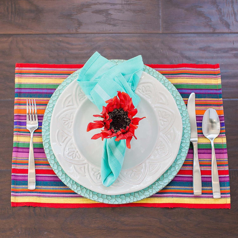 Fair Trade Fiesta Placemats, Handwoven Eco Cotton, Set 4