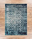 """Cheshire Blue Moroccan Lattice Vintage Modern Casual Traditional Trellis 8x11 ( 7'10'' x 10'6"""" ) Area Rug Thick Soft Plush Shed Free"""