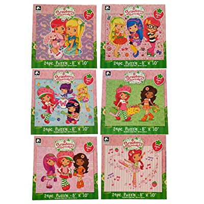"Karmin International Set of 6 Strawberry Shortcake 24 Piece Puzzles (10"" x 8""): Toys & Games"