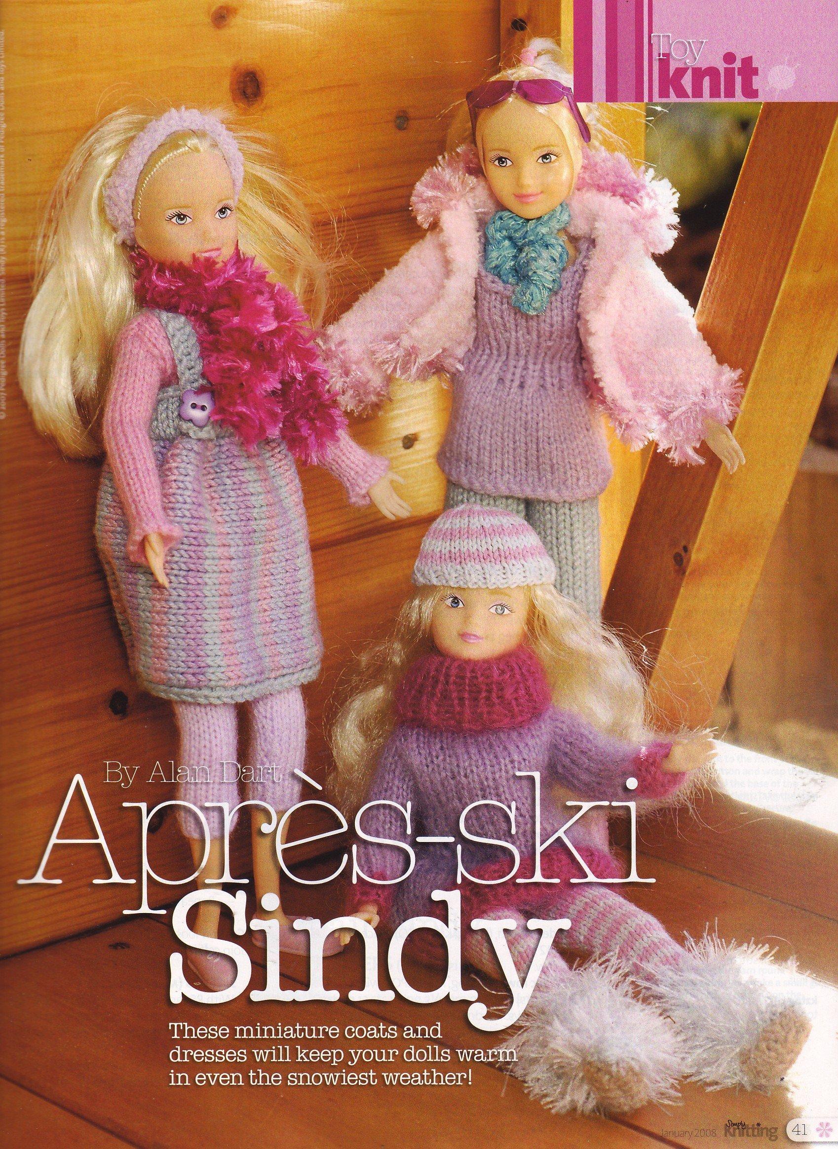 Apres-Ski Sindy by Alan Dart Dolls Clothes Knitting Pattern (Simply ...