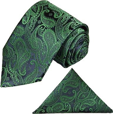 Paul Malone - Corbata de boda - Paisley - Hombre Verde verde Talla ...