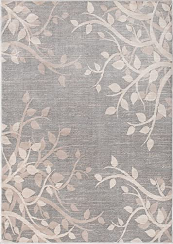 Mayberry Rugs Galleria Vinings Gray Contemporary 8″ x 10″ Area Rug