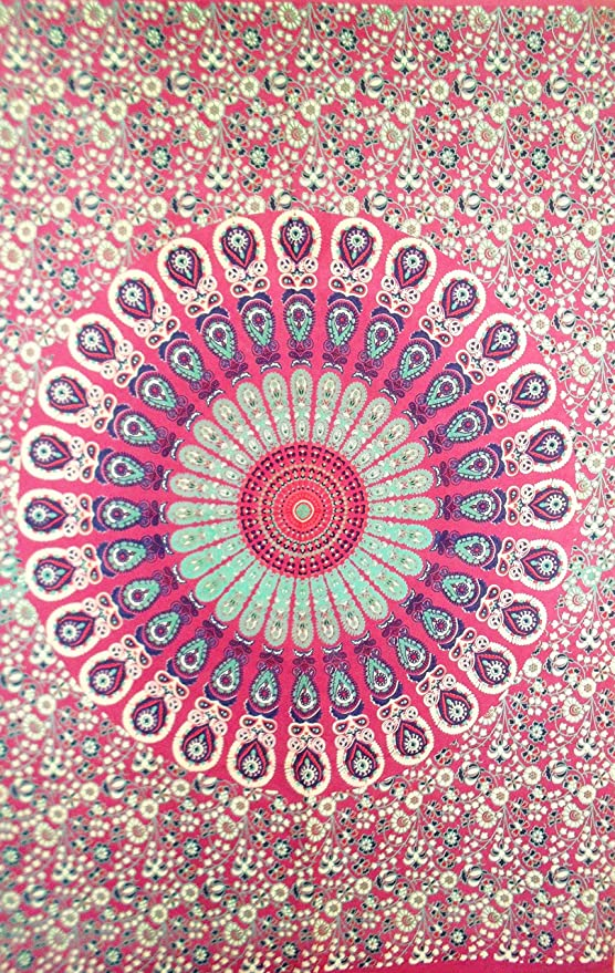 Poster Indian tapestry hippie mandala wall hanging Bohemian Turquoise Leaf Decor