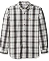 Carhartt Men's Big and Tall Essential Plaid Button-Down Long Sleeve Shirt