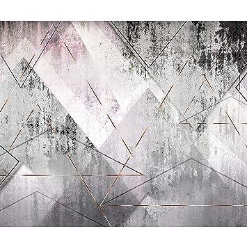 Decomonkey Fototapete Selbstklebend Textur Geometrich 343x256 Cm Xl
