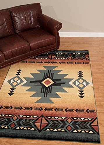 United Weavers of America Genesis Collection Arizona Heavyweight Heat Set Olefin Rug, 1-Feet 10-Inch by 3-Feet, Blue