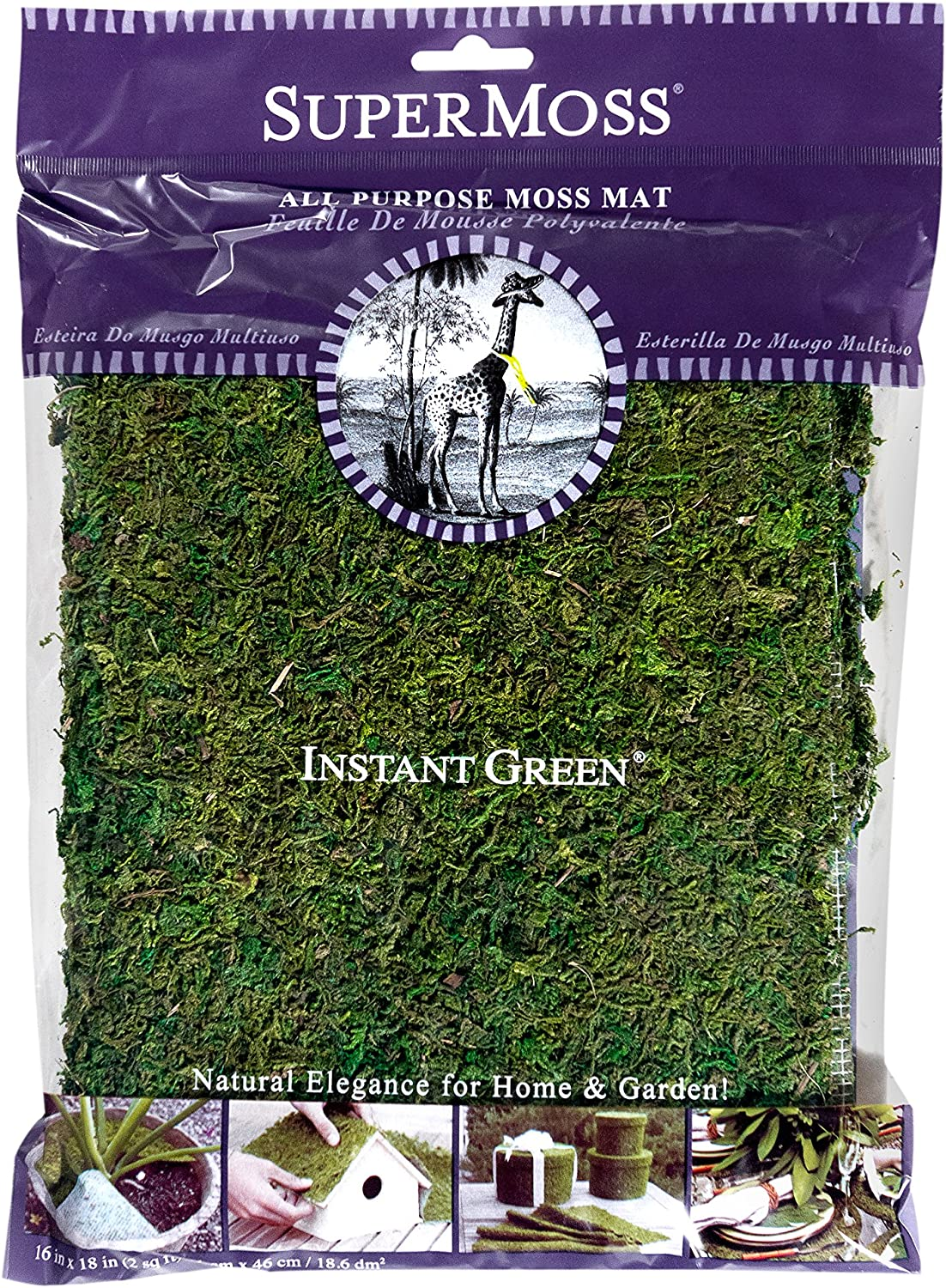 SuperMoss (22420) InstantGreen Moss Mat, Fresh Green, 18 x 16""""