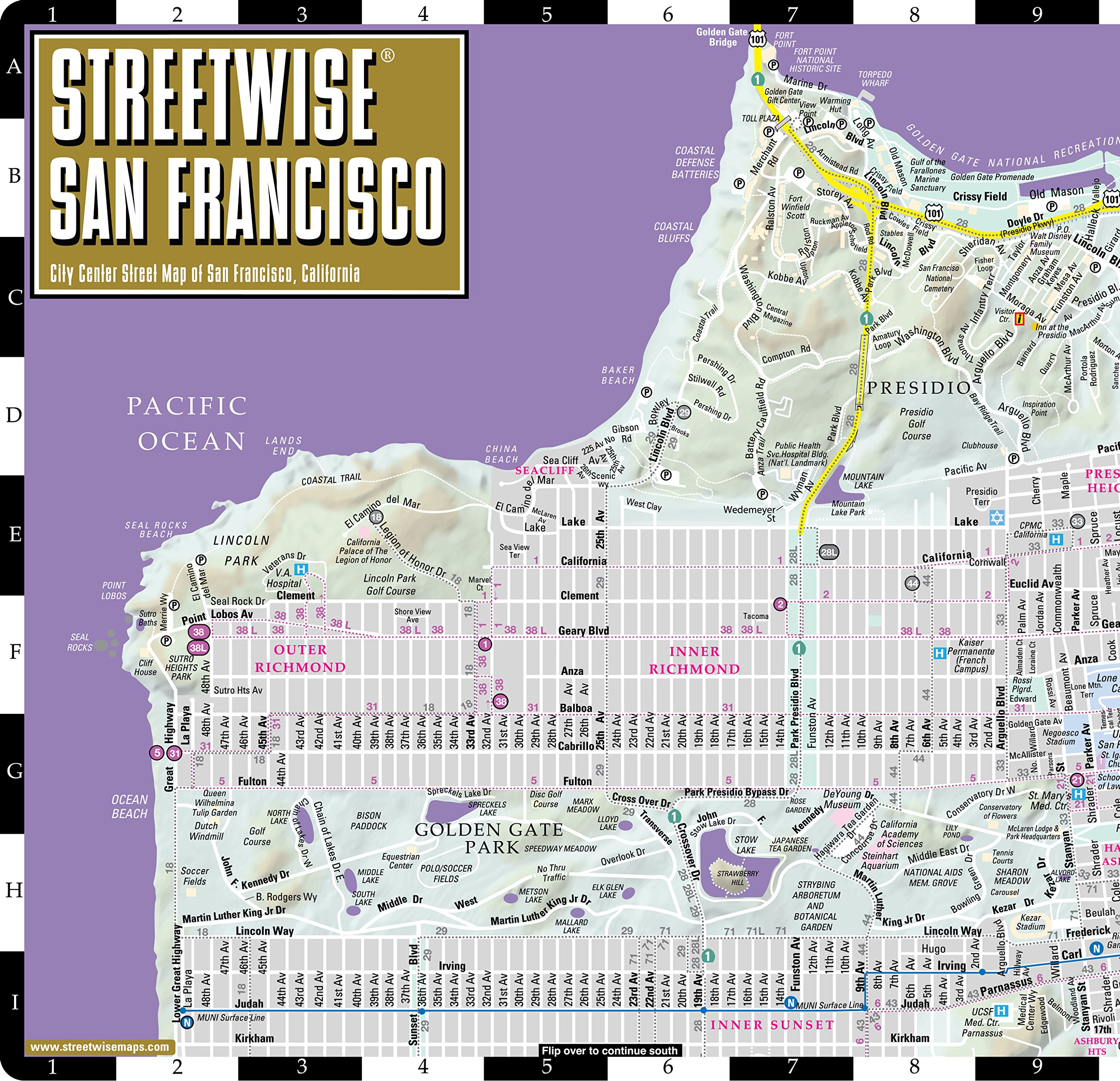 Streetwise San Francisco Map - Laminated City Center Street Map of ...