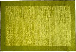 """Kashi Home Sonoma Rug, 20"""" x 60"""", Lime"""
