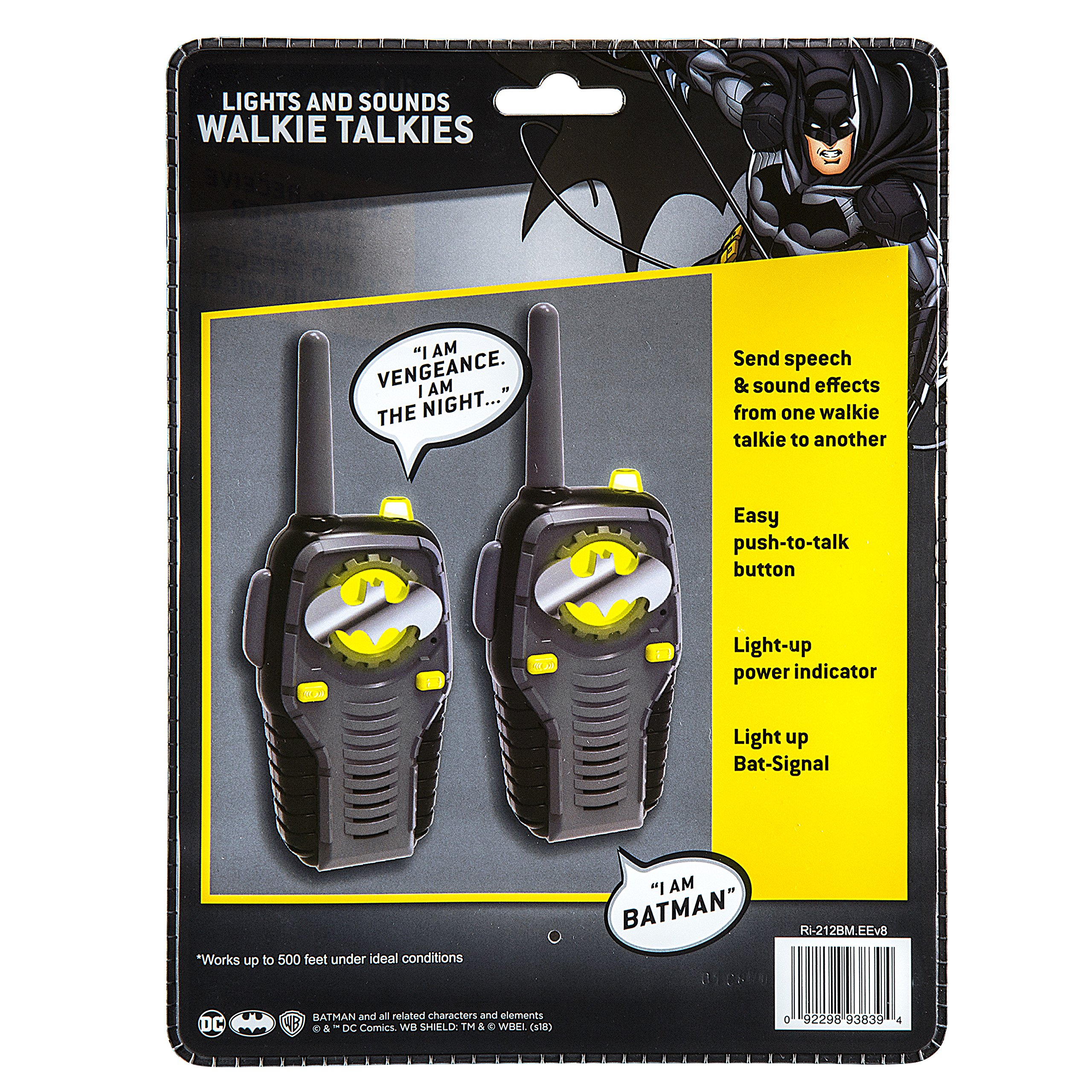 Batman FRS Walkie Talkies for Kids with Lights and Sounds Kid Friendly Easy to Use by eKids (Image #6)
