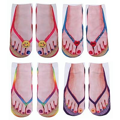 3D Funny Socks Novelty Socks Casual Flip Flop Printed Socks Low Cut Ankle Socks