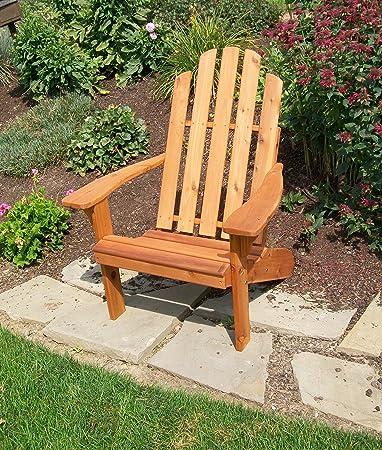 Amazon.com : Cedar Wood Adirondack Chair, Amish Made Outdoor ...