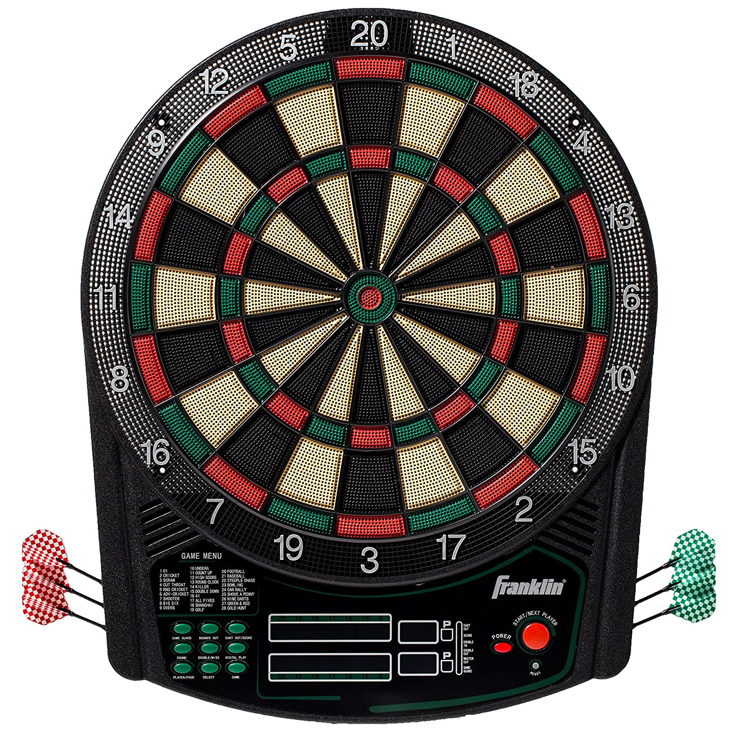 Franklin Sports FS6000 Electronic Dartboard — Digital Dartboard