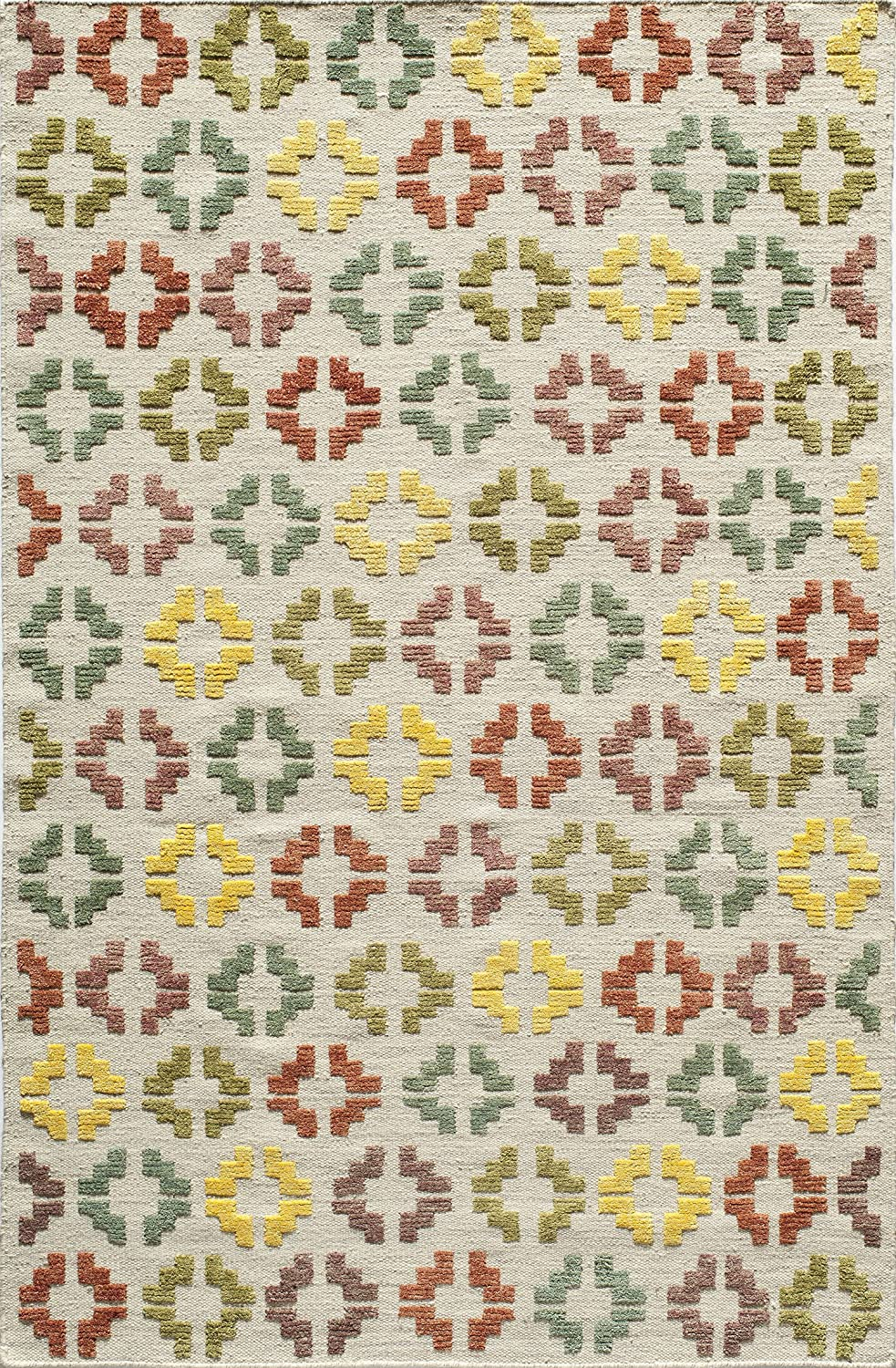 Momeni Area Rugs  Boho Collection Contemporary Hand Woven Area Rug, 2'3' x 8' Runner, Ivory