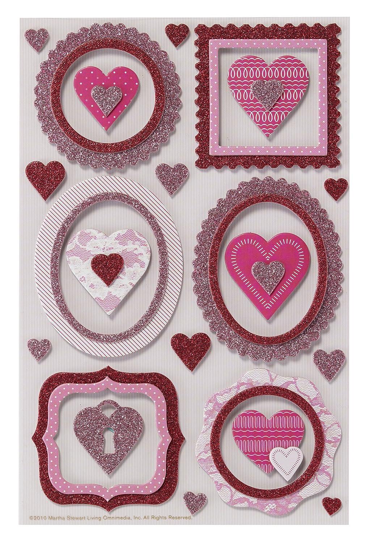 Martha Stewart Valentine Stickers-Frames W/Hearts (並行輸入品) B004I1NRVQ