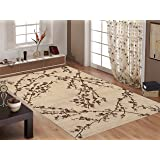 """Rugshop Floral Branches Area Rug, 5' 3"""" x 7' 3"""", Beige"""