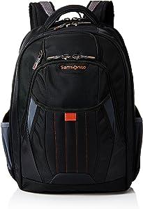 Samsonite Tectonic 2 Large Backpack Laptop, Black/Orange, 18 x 13.3 x 8.6