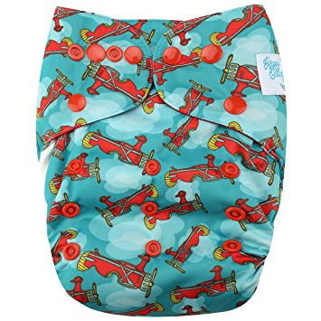 d36d4b937d2 Amazon.com : HappyEndings Organic Cotton All In One ( AIO ) Reusable Cloth  Diaper with Pocket (Aviator) : Baby