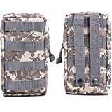 BIENNA Tactical Pouch, Small Military Bag Molle Gear [Waterproof] Nylon EDC Utility Gadget Zipper Waist Pack Wallet Holster Holder Pocket Cover for Vest Backpack & Phone GPS Camera Outdoor Camping