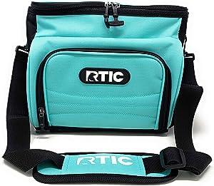 RTIC Soft Cooler 15, Aqua, Insulated Bag, Leak Proof Zipper, Keeps Ice Cold for Days