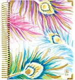 "bloom daily planners 2018 Calendar Year Hard Cover Vision Planner - Monthly and Weekly Column Calendar View Planner - (January 2018 - December 2018) Peacock Feathers - 7.5"" x 9"""