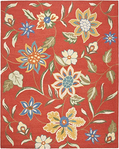 Safavieh Blossom Collection BLM673A Handmade Rust and Multi Premium Wool Area Rug 8 9 x 12